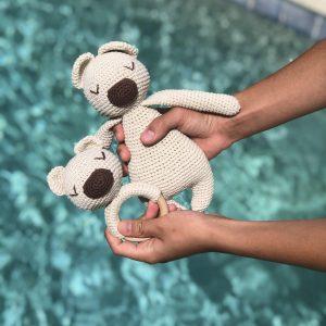 Bear + Rattle Amigurumi Eco Baby Christmas Gift